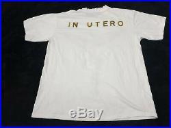 RARE Vintage 90s NIRVANA In UTERO Sliver Grunge Kurt Cobain Distressed tee