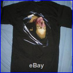 RESIDENT EVIL 2 vintage 1998 playstation PS1 CAPCOM XL Blue grape t shirt