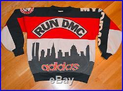 RaRe 1980's RUN DMC / ADIDAS vintage concert shirt sweatshirt (L) Hip-Hop NYC