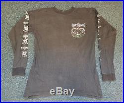 Rare 1992 Bolt Thrower This Time It's War European Tour LS Shirt Metal Carcass