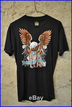 Rare 3D Emblem Harley Davidson 50/50 unworn vtg tee shirt Eagle