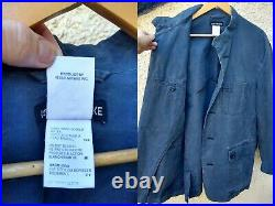 Rare Mens ISSEY MIYAKE MEN Japanese Cotton Work Chore Jacket Blue French M L