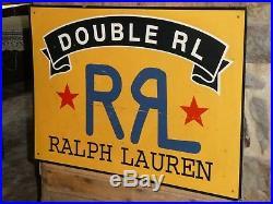 Rare Old Vintage Ralph Lauren Double Rl Rrl Original Store Sign Mens Clothing