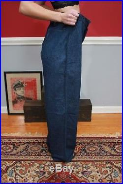Rare Vintage 1930's Pre WW2 USN US Navy Denim Jeans Dungarees. MINT! Huge Size