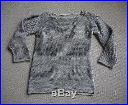 Rare Vintage 1930s Royal Navy Woven Cotton String Sailors Jumper Sweater