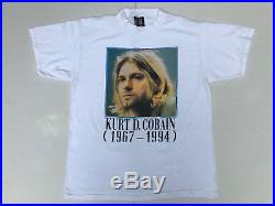 Rare Vintage 1994 Nirvana Kurt Cobain Memorial T-Shirt Giant XL Tultex Unworn