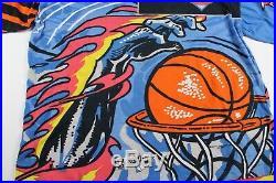 Rare Vintage 90s New York Knicks All Over Print T-shirt Large Magic Johnsons Ts