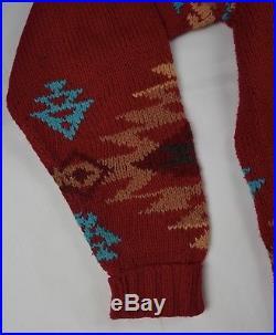 Rare Vintage RALPH LAUREN POLO COUNTRY Aztec Chief Horse Knit Sweater 90s SZ XL