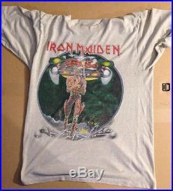 Rare vintage Iron Maiden Somewhere on Tour 1987 Shirt. Free Shipping