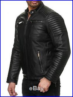 Kunst Jacke Lederjacke Bikerjacke Herren Biker Redbridge L4Aq5R3jc
