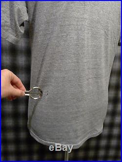 SALE! Vtg 70s 80s Playboy Bunny Logo Gray Triblend Rayon T-Shirt Medium
