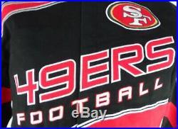 San Francisco 49ers NFL Team Apparel Men's Black & Red Vintage Button Jacket