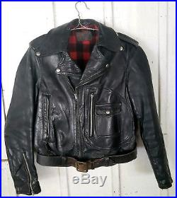 Sears Hercules 40s Horsehide D pocket Fleece Motorcycle Jacket Biker 50s Leather