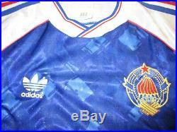 Sfr yugoslavia football small mans rare vintage 1991 adidas made home jersey