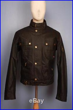 Stunning BELSTAFF Cougar'Steve McQueen 1964′ Motorcycle WAXED Jacket Medium
