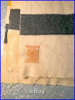 Stunning RARE HUDSONS BAY 5 Point Wool Multistripe Blanket