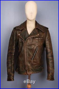 Stunning Vtg Horsehide D-POCKET Leather Motorcycle Jacket Medium/Large BUCO Aero