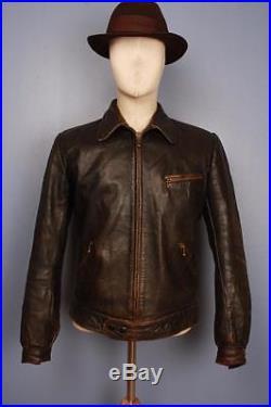 Sublime Vtg 30s GERMAN WWII Hartmann Flight Motorcyle Leather Jacket Luftwaffe