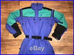 THE NORTH FACE Extreme Gear Mens MEDIUM One piece SKI SUIT Snow Bib vtg Snowsuit