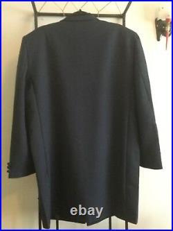 Teddy Boy Drape Jacket HALF COLLAR 1950s NAVY BLUE. Rock and roll NEW SIZE RANGE