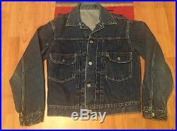 True Vintage 1950s LEVI'S BIG E Type 2 507XX Cinch Pleat Denim Jacket Selvedge