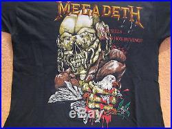 True Vintage Original MEGADETH Concert Shirt 1987 Tour Shirt Band Metal Shirt
