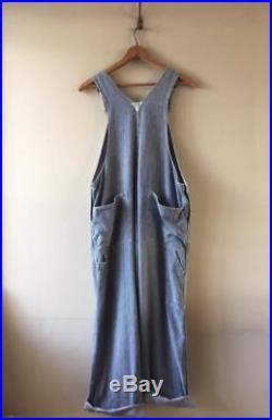True Vintage USA Osh Kosh B Gosh H Chore Hickory Stripe Dungarees Workwear L