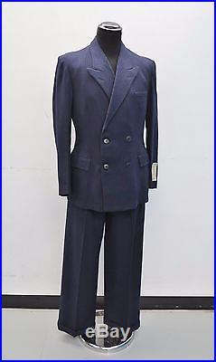 Unworn 1940's Suit Vtg Pinstripe 1940's Wool Suit 1930's Suit New Old Stock