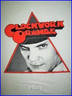 VINTAGE 1980s CLOCKWORK ORANGE STANLEY KUBRICK PROMO MOVIE FILM T-SHIRT