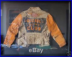 VINTAGE 30s HARLEY QUEBEC RACING CLUB MOTORCYCLE LEATHER JACKET