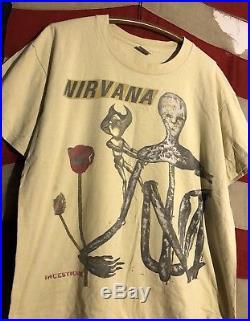 VINTAGE 90s NIRVANA INCESTICIDE 1994 PROMO T SHIRT XL GRUNGE KURT COBAIN ROCK