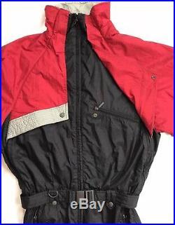 VINTAGE DESCENTE Mens SKI SNOW SUIT Retro 80'S 90'S ONE PIECE BIB Medium