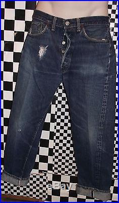 Vintage Levis 501 Big E Denim Selvedge Red Line Jeans Pants 31 X 29 USA L@@k