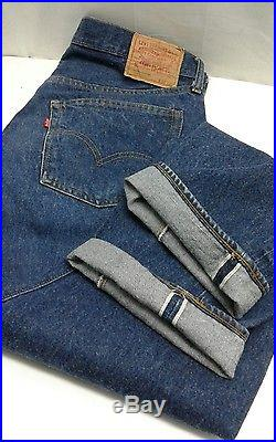 VINTAGE LEVI'S 501 REDLINE JEANS NO BIG E 34×32 ACTUAL DARK Blue indigo NR 99