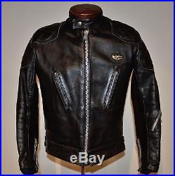 Vintage Very Rare! Mint Lewis Leathers Cafe Racer Leather Motorcycle Jacket 40