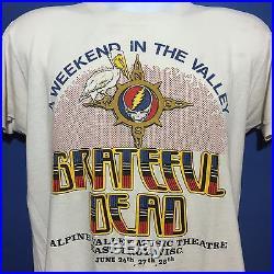 VTG 1987 Grateful Dead Rare Wisconsin Concert Tour T Shirt Alpine Valley M