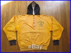 VTG 40s Champion Knitwear Running Man Hoodie Sweatshirt Nederland TX Bulldogs M