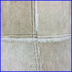 VTG 70s Woolrich Beige 100% Wool Sherpa Shearling Marlboro Man Coat Men's Sz 44