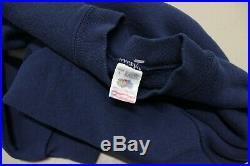 VTG 90s Chanel London Paris CC Logo Blue Embroidered Sweatshirt Men's Large