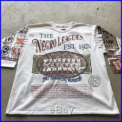 VTG 90s NWT Long Gone NEGRO LEAGUES T Shirt Hip Hop XL Black History 40 Acres