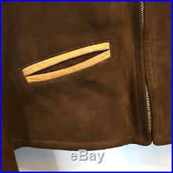 VTG Californian 1930s Two Tone Ball Chain Suede Leather Motorcycle Jacket NOS