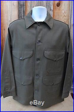 VTG Filson Mackinaw Cruiser Jacket Alaskan Tuxedo Forestry Cloth Mens SMALL
