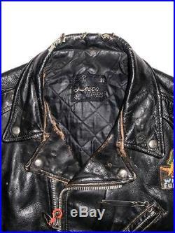 afd41dc444d VTG Hells Angels Heavy Leather Biker Jacket by LESCO