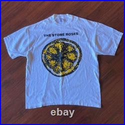 VTG JERZEES 90s The Stone Roses Shirt Shoegaze Oasis Ride Blur Pulp Smiths Cure