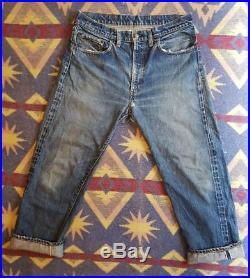 VTG Levi's Big E Jeans 502 Zipper Fly / Selvedge Denim 60s 70s / 34×27
