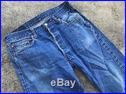VTG Levis 501 Redline Selvedge Chain Stitch #6 Indigo Jeans 32x29 No Big E