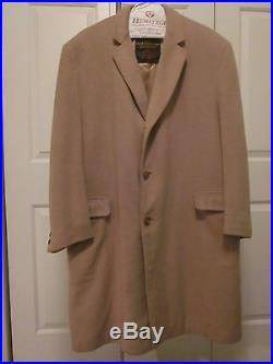 VTG Men's Overcoat 100% Mongolian Cashmere Amalgamated Clothing Camel Trench L