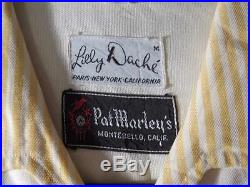 Very Rare Vintage 1950's Yellow Rayon Gabardine Shirt Jac Size Medium