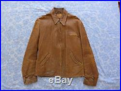 Vintage 1920s 1930's Capeskin leather aviator flight jacket