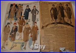 Vintage 1928 Montgomery Ward S&s Catalog! Flapper Fashion/men's Work Denim/shoes